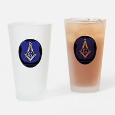 Freemasons Thin Blue Line Drinking Glass