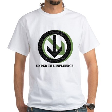 Under The Influence White T-Shirt