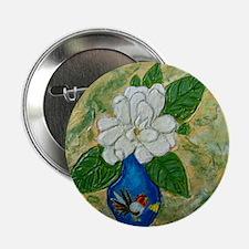 Gardenia in Bud Vase Button