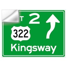 NJTP Logo-free Exit 2 Kingsway Wall Decal
