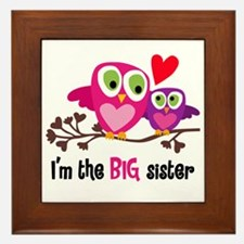 Big Sister Owl Framed Tile