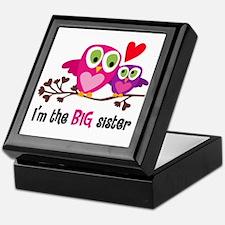 Big Sister Owl Keepsake Box