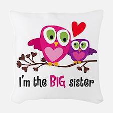 Big Sister Owl Woven Throw Pillow