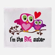 Big Sister Owl Throw Blanket