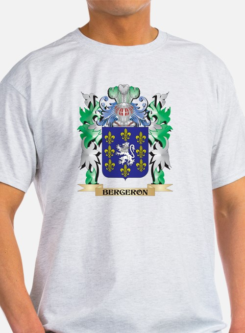 Bergeron Coat of Arms - Family Crest T-Shirt