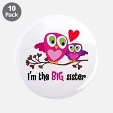 """Big Sister Owl 3.5"""" Button (10 Pack)"""