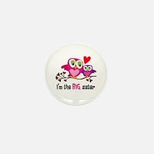 Big Sister Owl Mini Button (100 Pack)