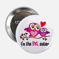 """Big Sister Owl 2.25"""" Button (10 Pack)"""