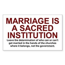 Marriage Is Sacred Rectangle Decal