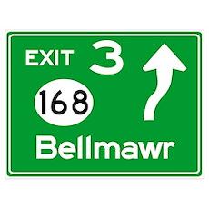 NJTP Logo-free Exit 3 Bellmawr Poster