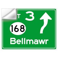 NJTP Logo-free Exit 3 Bellmawr Wall Decal