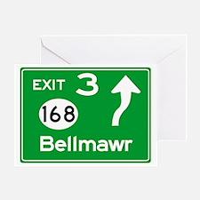 NJTP Logo-free Exit 3 Bellmawr Greeting Card