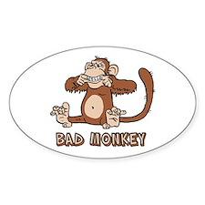 Bad Monkey Oval Decal