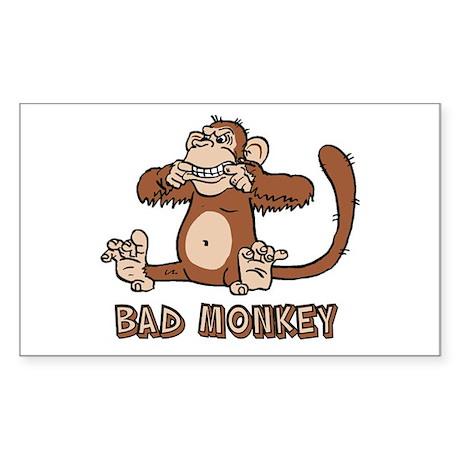 Bad Monkey Rectangle Sticker