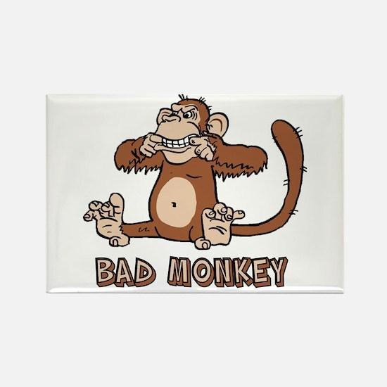 Bad Monkey Rectangle Magnet