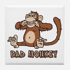 Bad Monkey Tile Coaster