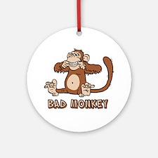 Bad Monkey Ornament (Round)