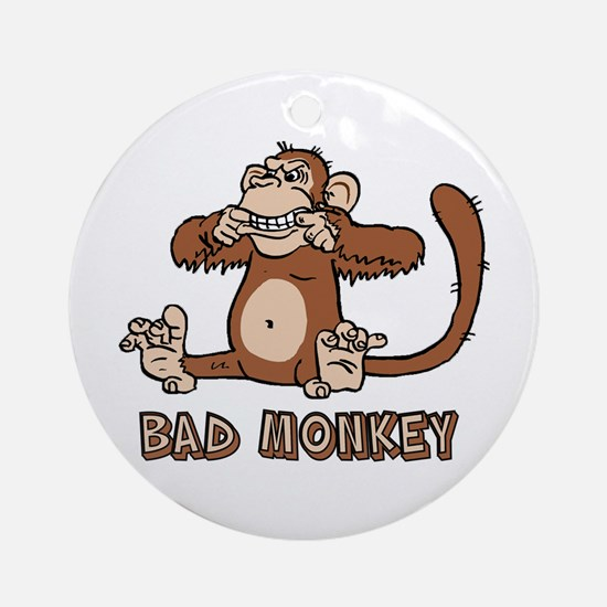 Bad Monkey Ornament (Round)
