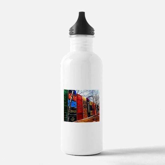 Block of Books! Water Bottle