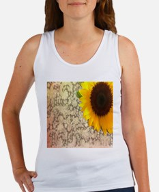 vintage country lace sunflower Tank Top