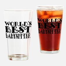 Worlds Best Babysitter Drinking Glass