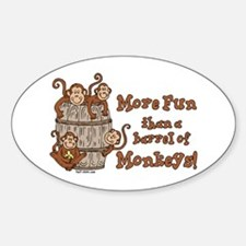 Barrel of Monkeys Oval Decal