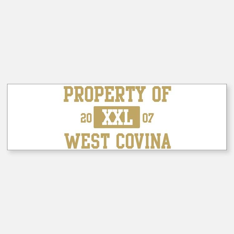 Property of West Covina Bumper Bumper Bumper Sticker