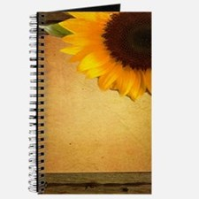 western country rustic sunflower Journal