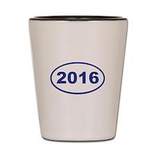 2016 blue Shot Glass