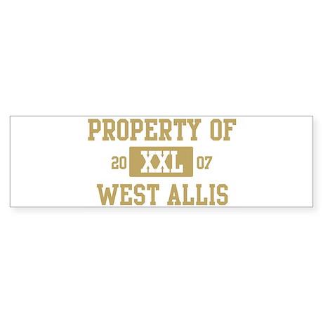 Property of West Allis Bumper Sticker