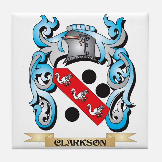 Clarkson Coat of Arms - Family Crest Tile Coaster