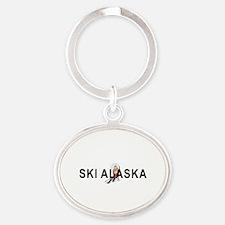 Ski Alaska Oval Keychain Keychains
