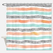 Cute Pink lines Shower Curtain