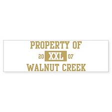 Property of Walnut Creek Bumper Bumper Bumper Sticker
