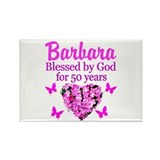 50th birthday for women Magnets