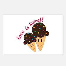 Love Is Sweet Postcards (Package of 8)