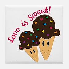 Love Is Sweet Tile Coaster