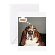 Cute Basset hounds Greeting Cards (Pk of 10)