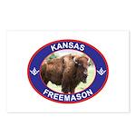 Kansas Free Mason Postcards (Package of 8)