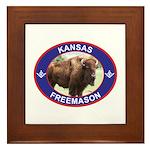 Kansas Free Mason Framed Tile