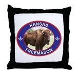Kansas Free Mason Throw Pillow