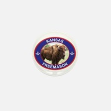 Kansas Free Mason Mini Button