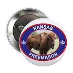 Kansas Free Mason Button