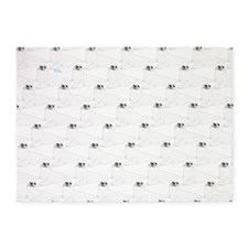 Baby Harp Seal Pattern 5'x7'Area Rug