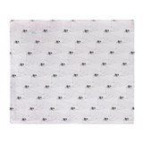Baby harp seal pattern Fleece Blankets