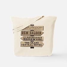 Deadwood Sign Post Tote Bag