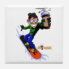 Hot Coffee! Snowboard Tile Coaster