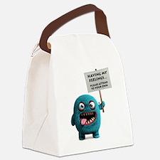 Having my feelings monster Canvas Lunch Bag