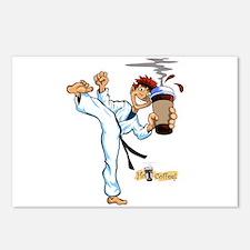 Hot Coffee! Karate Postcards (Package of 8)