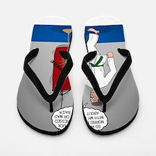 Karate Kick Dilemma Flip Flops